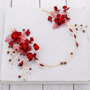 Maternity Red Crown Wreath Headband For Photography