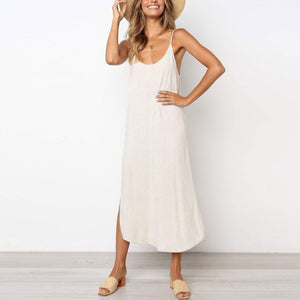Casual Plain Loose Vacation Dress