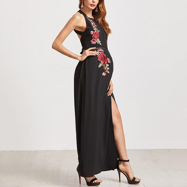 Maternity Embroidered Bandage Dress