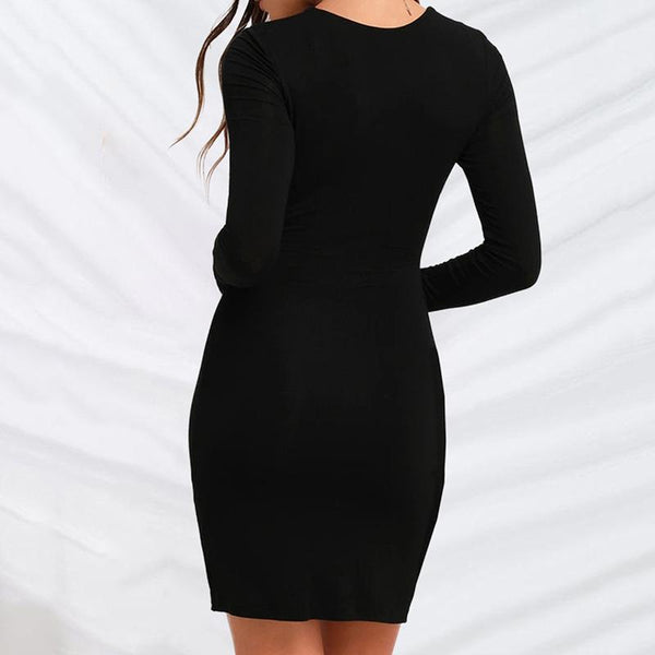 Maternity Long Sleeve Slim Dress