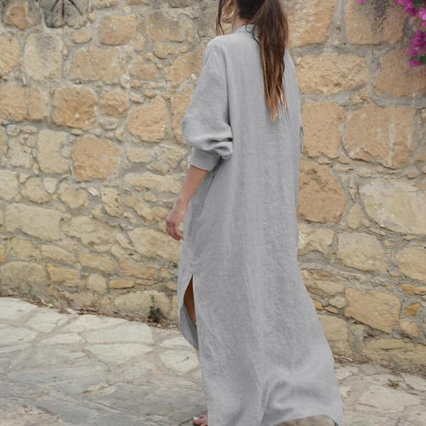 Maternity Loose Side Slit Long Dress