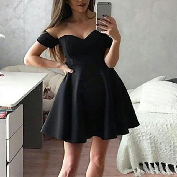 Maternity Sexy Off Shoulder Pure Color Dress