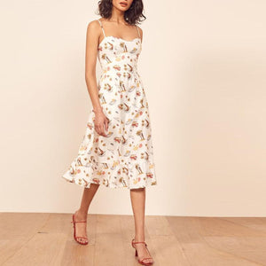Casual Sling Sleeveless Printed Dress