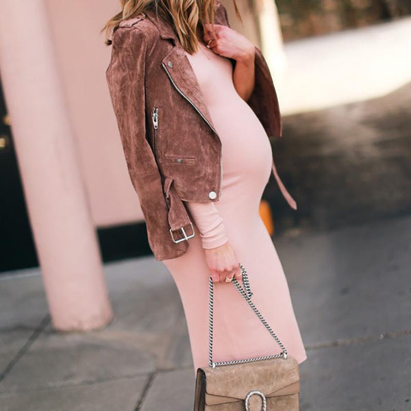 Maternity Sexy Pure Colour Loose Dress