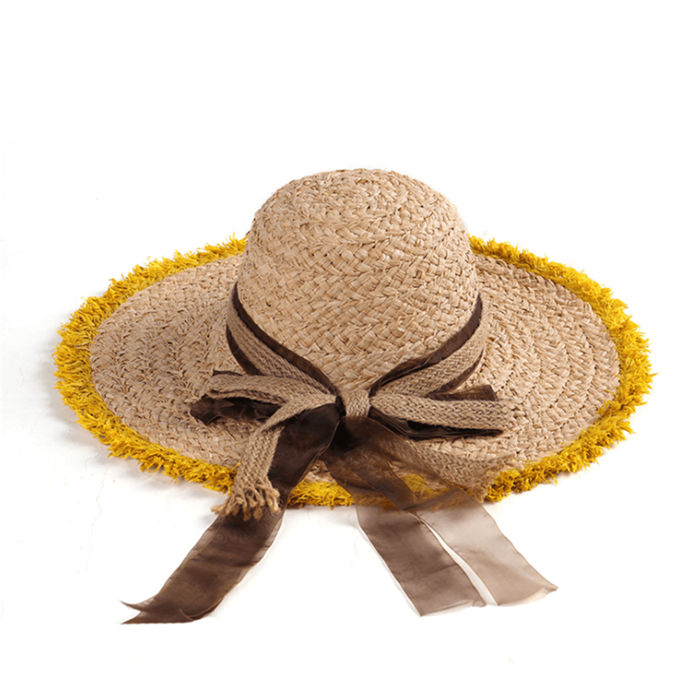 Fashion Casual Hand-Woven Bow Straw Hat