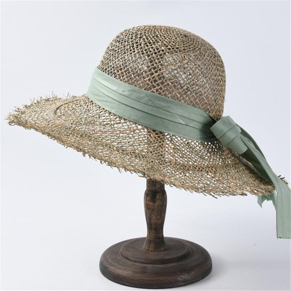 Stylish Openwork Bow Straw Hat
