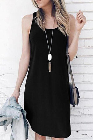 Maternity Solid Color Vest Dress
