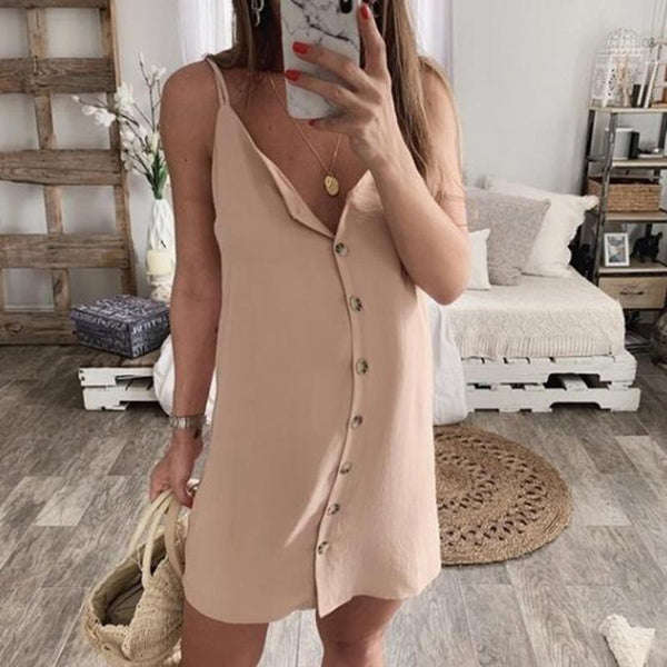 Maternity Single-Breasted Suspender Dress
