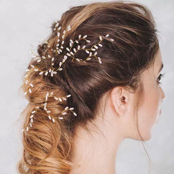 Maternity Pearl Hairpin Headdress