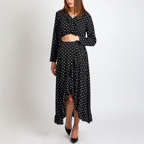 Maternity Long Sleeves Vacation Maxi Dress