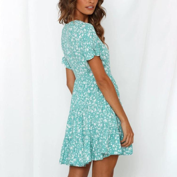 Maternity Floral Short-Sleeved Dress