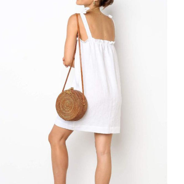 Maternity Casual Sling Solid Color Dress