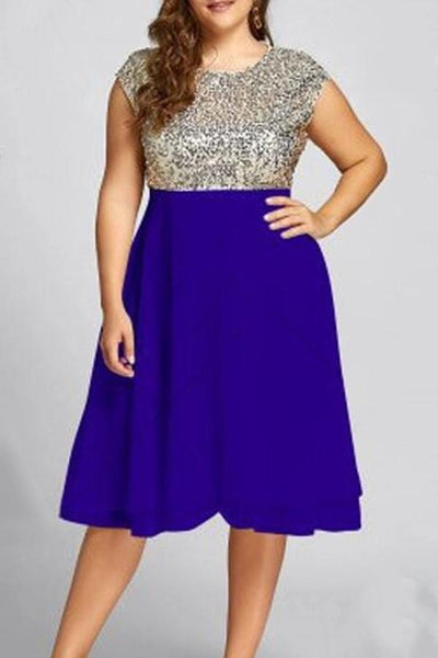 Maternity Sequined Sleeveless Dress