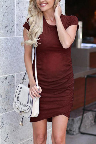 Maternity Short Sleeve Casual Dress