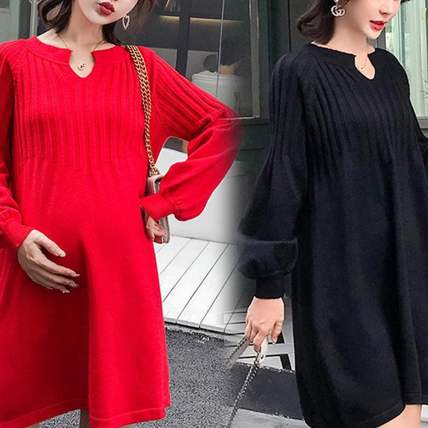Maternity Casual Long Sleeve Dress
