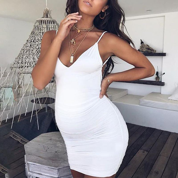 Maternity V-Neck Cami Dress