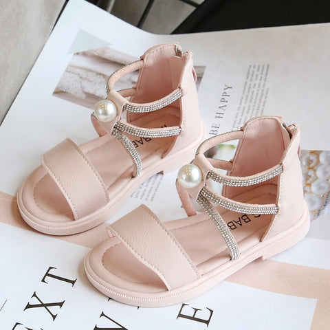 Baby Girl Shoes Toddler Infant Kids Baby Girls Sandalias Summer Roman Crystal Princess Shoes Sandals детская обувь#GH