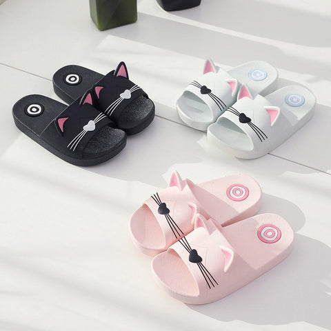 Baby girl shoes for kids chaussure enfant Boys Home kids slippers schoenen Cartoon Cat Floor Family Shoes Beach Sandals#45
