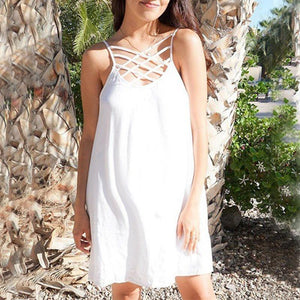 Maternity Plain Spaghetti Strap Backless Casual Dress
