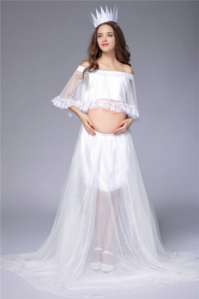 Photography Lace Top Gown Sets Suits Maternity Dresses