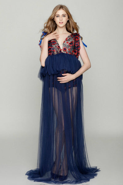 Maternity Photography Props Sexy Maxi Dress