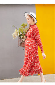 Floral Print Chiffon Maternity Dress    Ex Chainstore