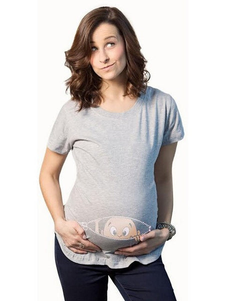 Gravida Blousing Loose Fit Clothes Comfortable Maternity T-shirt