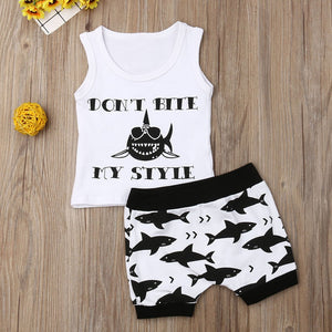 2PC Toddler Kids Baby Boy Girls Sleeveless Tops Blouse Jumpsuit Outfits Clothes