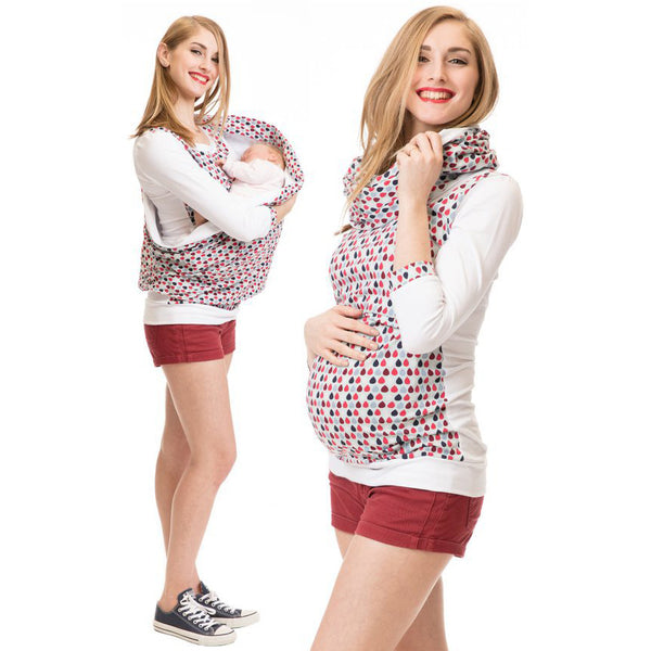 Maternity Breastfeeding Hoodie Autumn Pregnant T Shirt