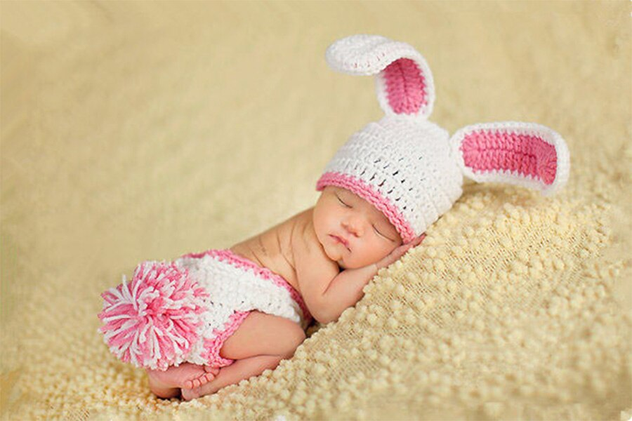 Cute Baby Girl Boy Crochet Knit Crown Hat Photo photography Prop Hair Accessory