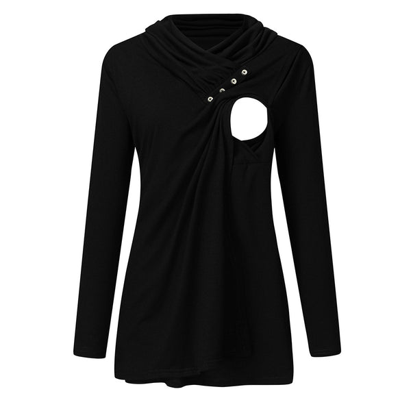 NEW Women Winter Clothes Maternity Hoodie Long Sleeve Nursing Tops