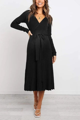 Maternity Stylish High-End Pleated Pleated Dress