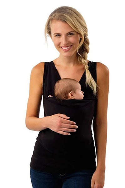 Plus Size  Baby Carrier Clothing Kangaroo T-Shirt for Father&Mother