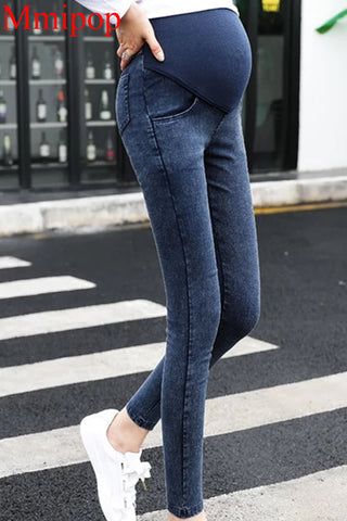 Pregnancy Skinny Trousers Stylish Ladies Over The Pants