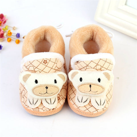 Winter Baby Snow Boots Toddler Shoes Baby Girl Shoes Knitted Cartoon Bear Infant Newborn Baby Shoes Footwear Sale QF
