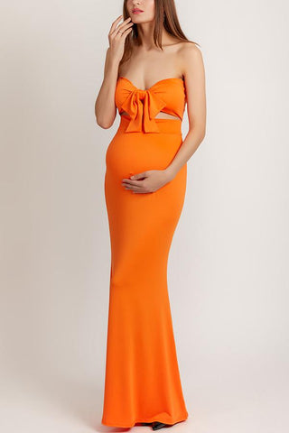 Maternity Strapless Evening Dress