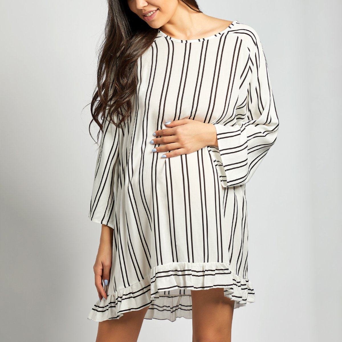 Maternity Stripe Bikini Vacation Dress