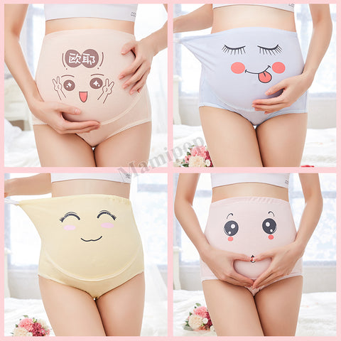 maternity high waist control pants women's expression shorts