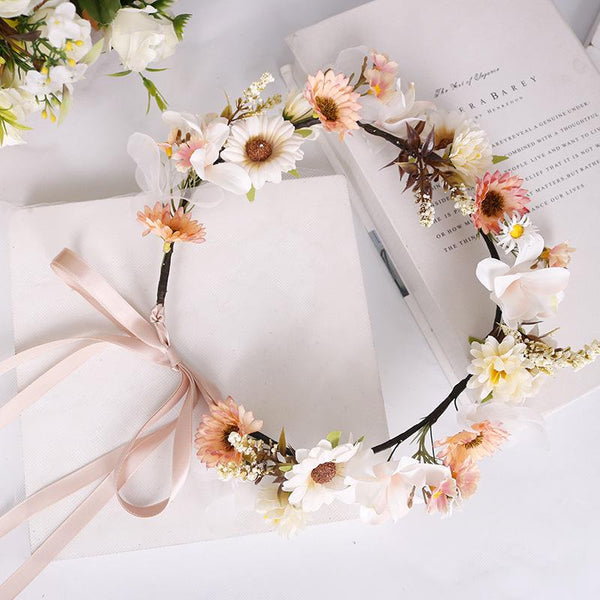 Brisk floral daisy headband headwear wedding headwear
