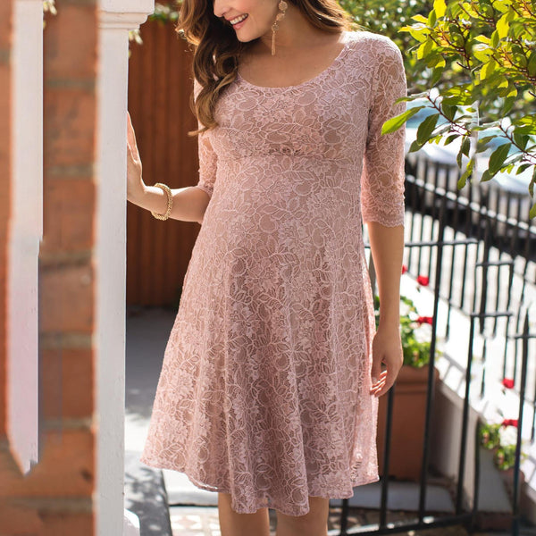Lace maternity wedding short dress