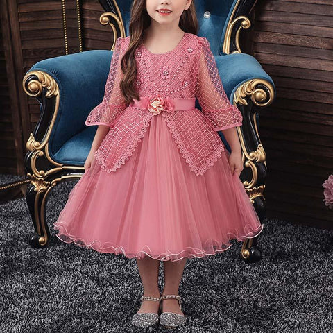 Flower Lace Princess Evening Dress
