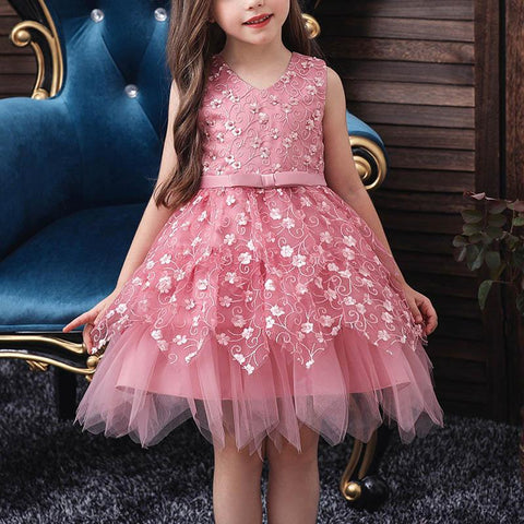 Sleeveless Multilayer Lace Princess Dress
