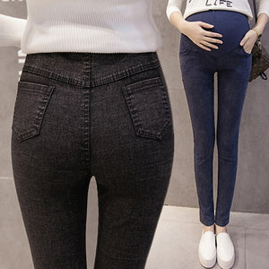 Women's Maternity Skinny Jeans Fall Belly Adjustable Denim Pants