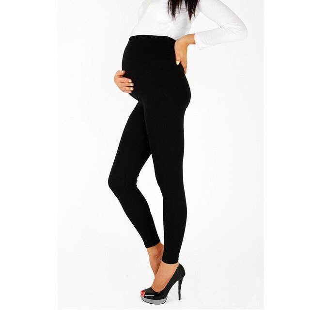 Pregnant Women Thin Cotton Pants High Waist Casual Trousers