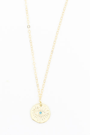 Evil Eye Gold Necklace