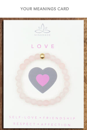 True-Love Rose Quartz Mala Bracelet
