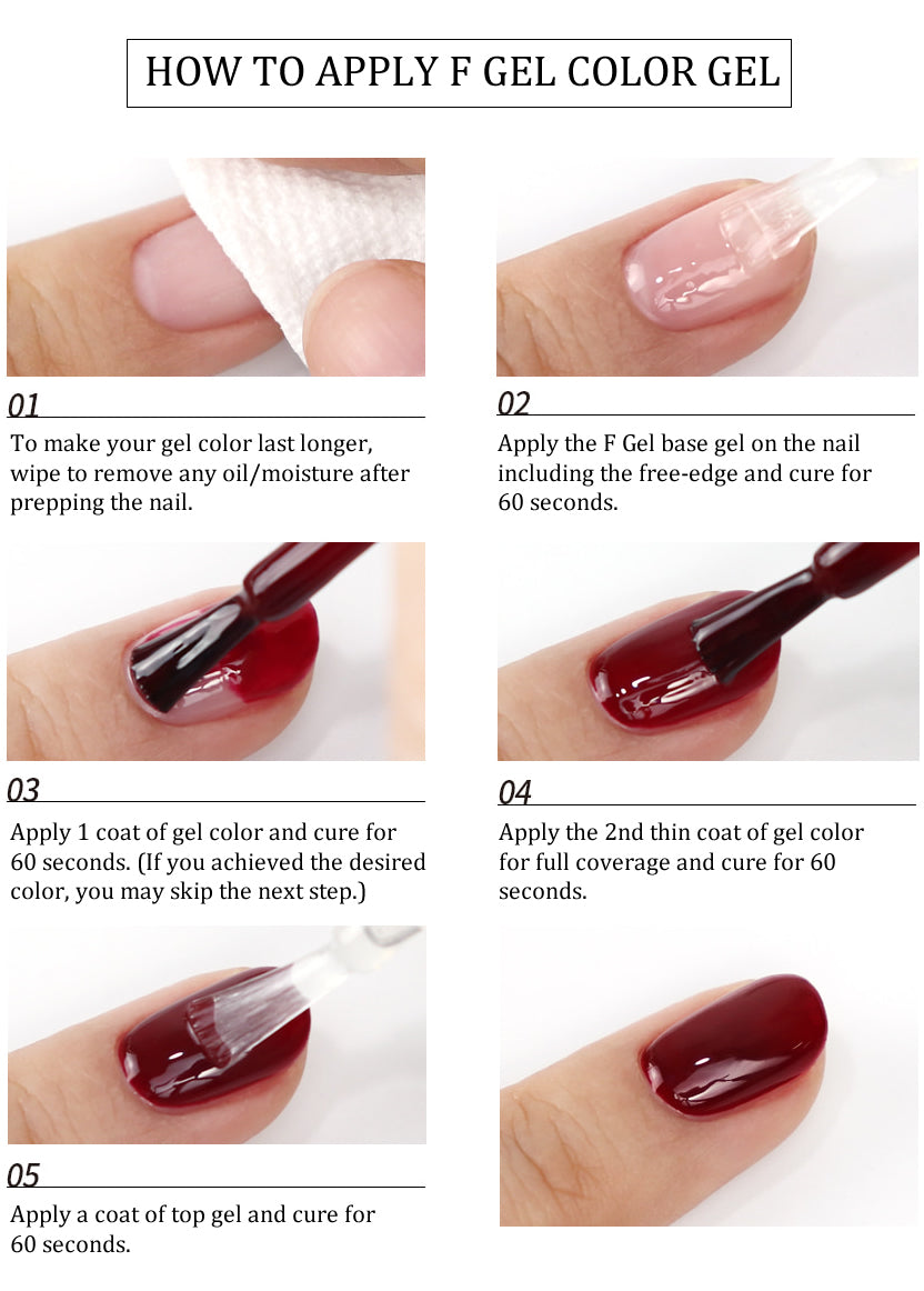 how to apply the color gel
