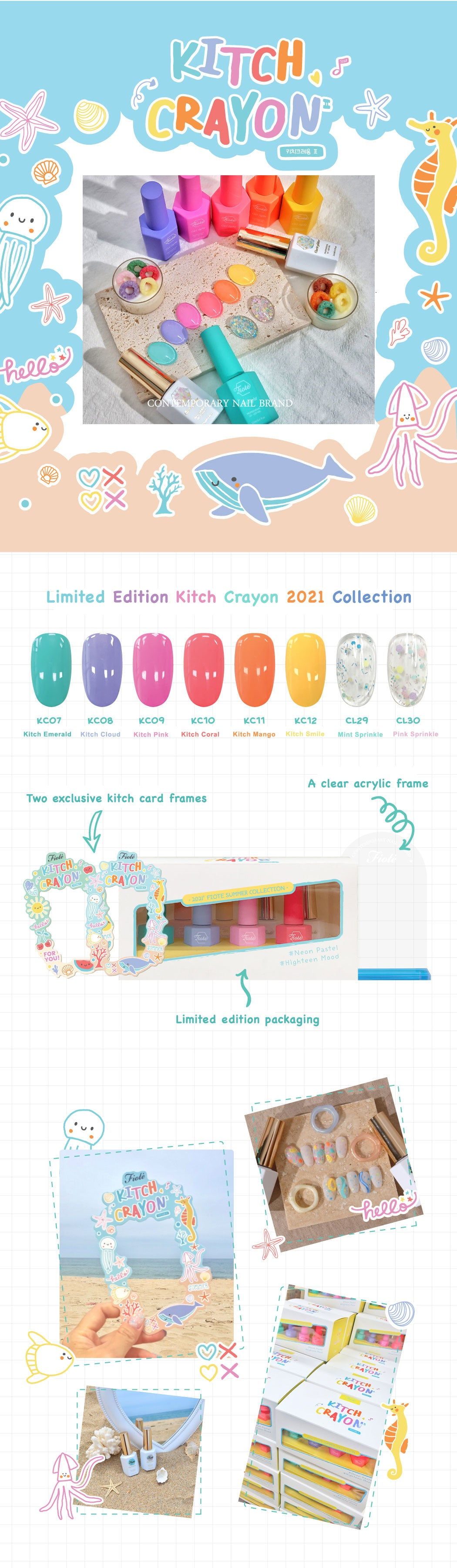 Fiote Kitch Crayon 2021 Collection - 8 Color Set