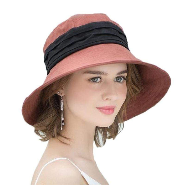 Women Bucket Cap | Cotton Linen | Bucket Cap | Beach Hat Fashion