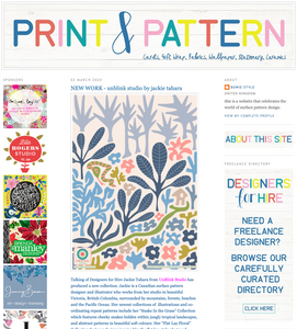 Print & Pattern Blog - UnBlink Studio by Jackie Tahara